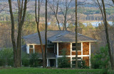 Our much loved house in Penn Run, PA (1999-2008) with view to Yellow Creek S.P. lake