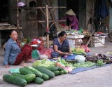 Marketing vegetables in Hoi An