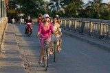 Evening rush hour on Cam Nam bridge