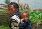 Black Hmong mother and child