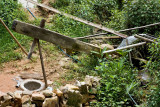 A water-powered mill for pounding rice