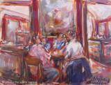 conversazione al Caffé Greco by Stellario Baccellieri