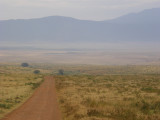 The road into the crater