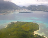 Arial view of Victoria and Ile aux Cerfs