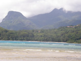 Le Morne Blanc and Morne Seychellois seen from Anse Boileau