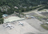 The airport seen from a Twin Otter