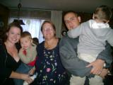 Cyndi with Cathy, Arthur, AJ and Mason
