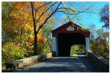 Autumn Light at VanSant Covered Bridge