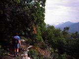 Stony mountain path