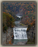 Upper And Middle Falls With Trestle