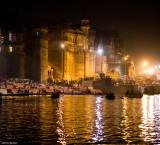 The Raj Palaces along the Ganga Lit up for Dev Deepavali