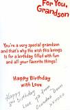 P.2 - Happy 8th - love ya grandson