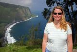Angela at Waipi'o Valley overlook