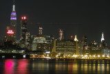 New York City Skyline at Night from Weehawken Waterfront