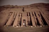 Nefetari temple sun rise at Abu Simbel