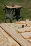 Put the router table outside to mill the edges