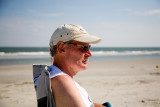 Tom relaxing on the beach