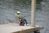 Fishin' on the dock of the creek