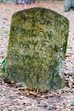 Handmade Gullah headstone