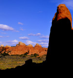 Sunset colors ... in Arches Park !