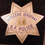 obsolete det/sgt  badge (Pat Olvey photo collection)