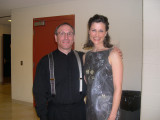 Mary Southworth with Neal Gittleman after Mahler Symphony #4