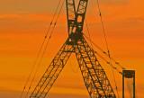 Hospital Cranes at Sunrise