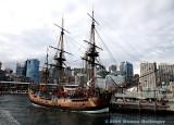 Sydney Skyline and a Tall Ship