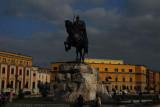 Skanderbeg Statue, Tirana