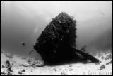 Black & white wreck of the Carnatic