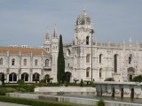 west of downtown Lisbon, in Belem, at the Mosteiro dos Jeronimos