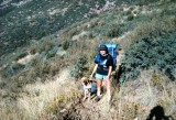 Mikki and Tammy on Reavis Ranch Trail 10-15-88
