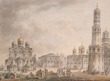 Place des Cathedrales - as painted by Giacomo Quarenghi in 16 century