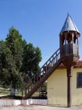 Pequeño minarete de madera
