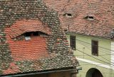 typical skylights in Sibiu