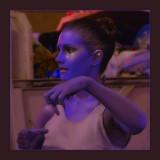 Purple Lady at Night