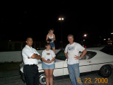 With sis' boyfriend, Chris Ramsay, daughter Kimmy and then-wife Donna