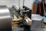 7668 Lathe milling the front brake torque arms
