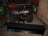ATV Plow Setup