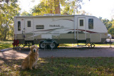 Our RV Campsite Being Guarded by Sunny