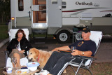 Paula, Charlie and Sunny Roughing It