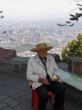 View from Cerro San Cristobal in Santiago