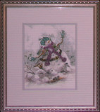 Snowman with Mittens 884H Abrams Sale75 Rent5 14x16 Reproduction.jpg