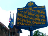 Molly Maguire Sign - Pottsville Prison Museum
