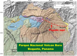 Map of  Volcan Baru  National Park Trail