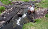 Drinking from a waterfall on the Beara Peninsula