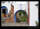 Lady's Lodge Archway to The Piazza, Portmeirion 2008