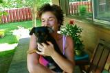 My friend Andrea and her faithful companion TJ