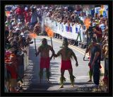 Torchbearers At The Finish Line