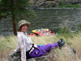Plenty of time to just sit and relax - no mosquitoes on the river - amazing!
